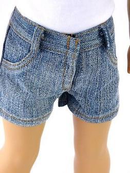 Boy Distressed Denim Jean Shorts fits 18 inch American Girl