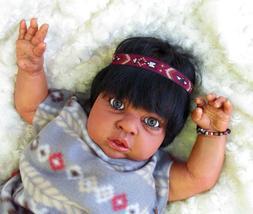 Reborn baby boy doll large toddler Ethnic biracial Native Am