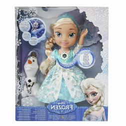 Brand New Disney Frozen Snow Glow Elsa Singing Doll