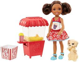 Barbie Sisters Chelsea Doll and Popcorn Stand, Brunette