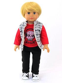 Caden the Little Rock Star: 18 inch Boy Doll includes Doll,