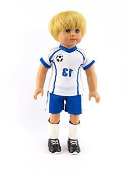 Caden the Super Soccer Player 4-piece Outfit with Boy Doll |