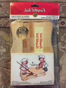 campbells soup kids doll wooden display stand
