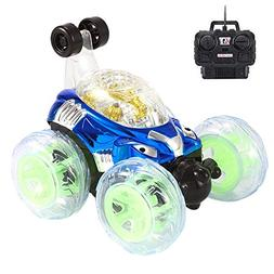 DICPOLIA Cars Toys,360° Spinning and Flips with Color Flash