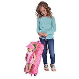 Doll Travel Case Suitcase Storage Bag with Sleeping Bag - Tr