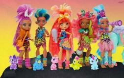 Cave Club Fashion Dolls Complete Set of 5 New Mattel Dinosau