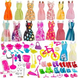 Cheap Barbie Doll Summer Holiday Birthday Princess Dress Out