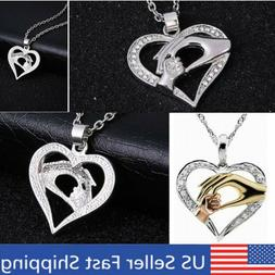 CHEAP Mother Child Charm Pendant Jewelry Heart Necklace  Gif