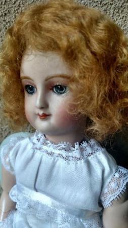 """Chestnut warm Fashion doll mohair wig Size 61/4"""" soft Chestn"""