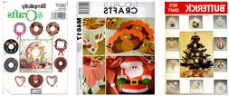 Christmas & Holiday Sewing Patterns OPP Decorations Dolls Cl