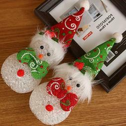 Christmas Decorations Snowman Luminous Christmas Ornaments D