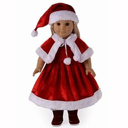 TianBo 3pc Christmas Red Color Including Hat Shawl Dresses O