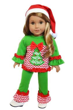 Christmas Tree Outfit for American Girl Dolls 18 Inch Doll C