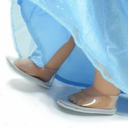 Cinderella Inspired Glass Shoes for 18 Inch Doll Fits For  A