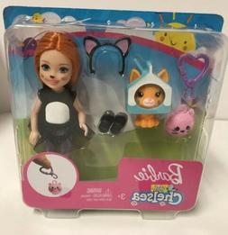 Barbie Club Chelsea Dress Up Dolls Pretend Play Cat Free Shi