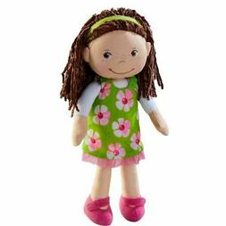 "HABA Coco 12"" Soft Doll with Brown Hair, Embroidered Face, R"