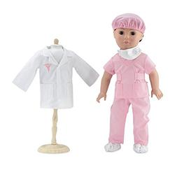 18 Inch Doll Clothes | Complete 6-piece Doctor or Nurse Hosp