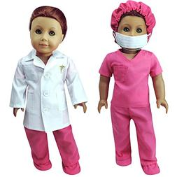 Complete 18 Inch Doll Doctor or Nurse 6 pc Set by Sophia's o