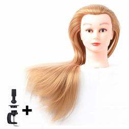"""Cosmetology Mannequin Head Human Hair 26"""" - 28"""" Hairdressing"""