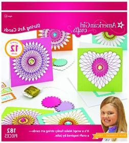 American Girl Crafts String Art Cards Kit 182 Pieces - New i