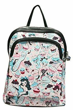 Cupcake Dolls Backpack Miss Fluff Retro Pinup Bag Purse