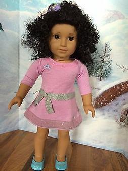 "American girl custom 18""Doll OOAK w/black curly hair  medium"