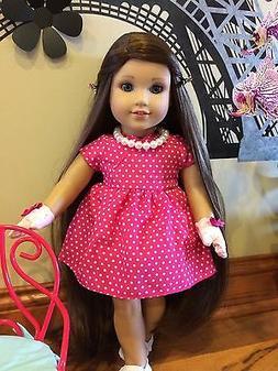 "American girl custom 18""Grace Friend Ammy doll OOAK dark Bro"