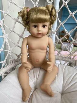 "Cute Bebe Silicone Full Body Reborn Baby Dolls Girl 22"" Todd"