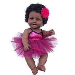 Mlide Cute Black Chocolate Skin Girl Dolls African American