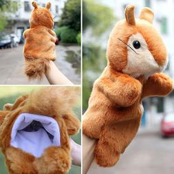 Cute Squirrel Hand Puppet Plush Doll Story Telling Education