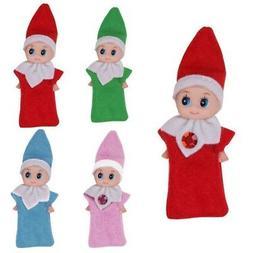 Cute Xmas Home Room Shelf Decor Boy Girl Elf Baby Plush Toy