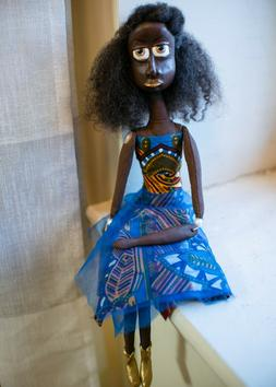 Dedra, Melandolly Black African American Paper Clay, artdoll