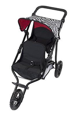 Deluxe Double Jogger Doll Twin Stroller Adjustable Handle Hi