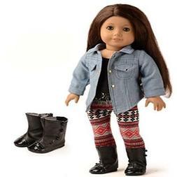 Sweet Dolly 3PC Doll Clothes Denim Jacket Tank Top Leggings