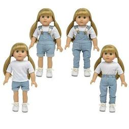 The New York Doll Collection Denim Overalls for 18 inch Doll