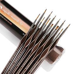 Miniature Paint Brushes Detail Set -12pc Minute Series XII M