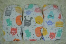 HONEST DIAPERS 6 PACK for dolls & NEWBORN babies MONSTERS bo