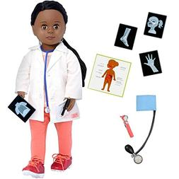 Our Generation 18 Inch Doctor Doll, African American, Meagan