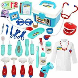 Joyin Toy Doctor Kit; 31 Pieces Pretend-n-Play Dentist Medic