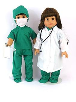 Doctor or Nurse 7 pc Set | 18 Inch Doll Clothes | Complete w