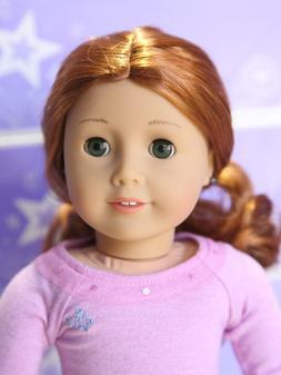 American Girl Doll 61 EARRINGS HEARING AID Red Hair Green Ey