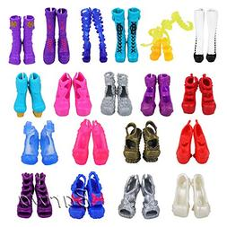 BARWA 10 Pairs Doll Shoes Accessories for Monster High Doll