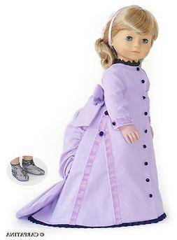 "Doll Clothes 18"" Dress Victorian Lavender Carpatina Fits Ame"