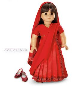 "Doll Clothes 18"" Victorian Dress Floral Shoes Headband Carpa"