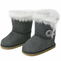 """Doll Clothes 18"""" Boots Suede Grey Sophia's Fits American Gir"""