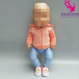 Doll clothes 18 inch doll coat sport outfit set Fit for 43cm