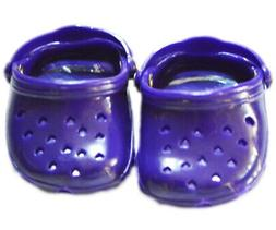 """Doll Clothes 18"""" Shoes Clogs Purple Fits American Girl Dolls"""