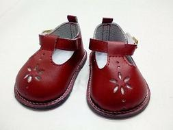 """Doll Clothes 18"""" Shoes Red Mary Jane Fits American Girl Doll"""