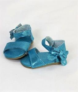 """Doll Clothes 18"""" Shoes Teal Sandal Sparkle Fits American Gir"""