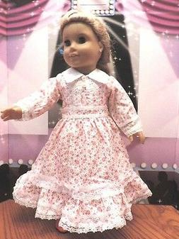 """Doll Clothes 18"""" Victorian Red and White Dress Fits American"""